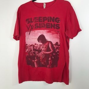 Sleeping With Sirens Band Tee - Red - Size XL